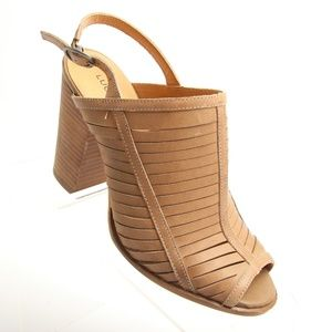 Lucky Brand Strappy High Heels Peep Toes Pumps
